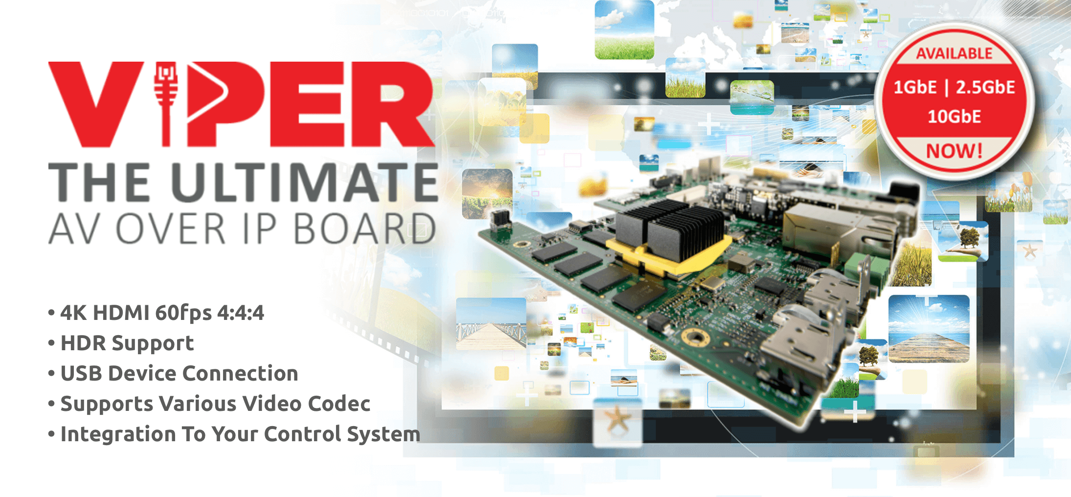 VIPER - The custom OEM board for 4K HDMI AV over IP
